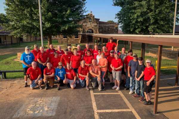 These are just a few of the hundreds of volunteers that helped rebuild Moffett School in August 2019.